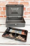 Cash Box. A studio photo of a cash box Royalty Free Stock Photography