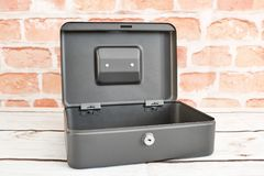 Cash Box. A studio photo of a cash box Royalty Free Stock Photos