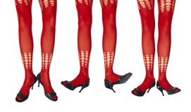 Studio photo of the female legs in colorful tights Stock Photo