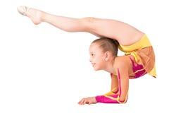 Studio photo girl gymnasts Royalty Free Stock Image