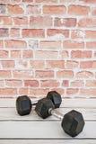 Dumbells. A studio photo of gym dumbells Stock Photo