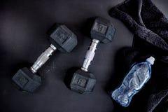Dumbells. A studio photo of gym dumbells Stock Images