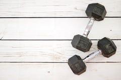 Dumbells. A studio photo of gym dumbells Stock Photos