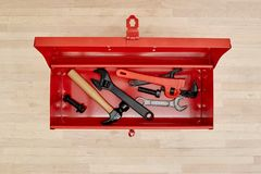 Tool Box. A studio photo of a industrial tool box Royalty Free Stock Images