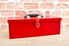 Tool Box. A studio photo of a industrial tool box Royalty Free Stock Photography