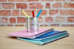 Note Book Pad. A studio photo of a notebook pad Stock Image