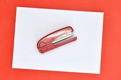 Office Stapler. A studio photo of an office stapler Royalty Free Stock Images