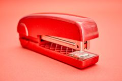 Office Stapler. A studio photo of an office stapler royalty free stock photos