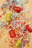 Party Poppers. A studio photo of party poppers stock image