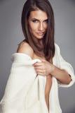 Studio photo of posing sexy woman Royalty Free Stock Photography