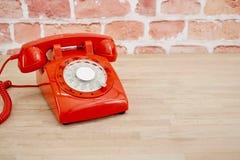 Rotary Telephone. A studio photo of a rotary telephone Stock Photo