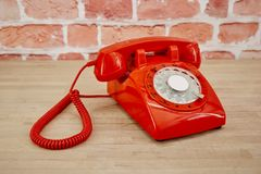 Rotary Telephone. A studio photo of a rotary telephone Stock Images