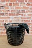 Washing Basket. A studio photo of a washing basket Royalty Free Stock Photography