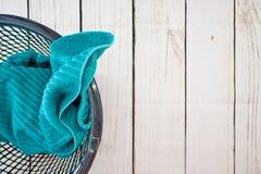 Washing Basket. A studio photo of a washing basket Royalty Free Stock Photos