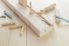 A studio photo of a wood  kit project Stock Photography