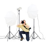 Studio photographer Stock Photography