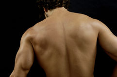 Studio photography of a man with His back, white and black Stock Images