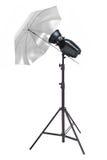 Studio photography reflector umbrella Royalty Free Stock Photos