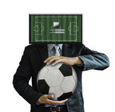 Studio picture of football coach login Royalty Free Stock Images