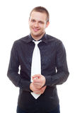 Studio picture of smiley man Royalty Free Stock Images