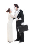 Studio picture of two mimes Royalty Free Stock Photos
