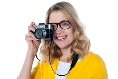 Studio picture from a young beautiful woman Stock Image