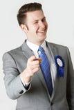 Studio-Porträt des Untrustworthy Politikers lizenzfreies stockfoto