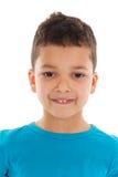 Studio portrait Antillean toddler boy Royalty Free Stock Image