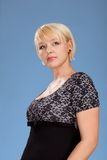 Studio portrait of attractive adult woman Stock Photo