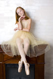 Studio portrait of an attractive young ballerina Stock Photography