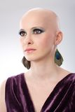 Studio portrait of bald woman Stock Photos