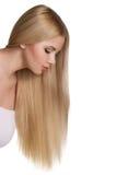 Studio portrait of beautiful blonde girl Stock Photos