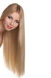 Studio portrait of beautiful blonde girl Stock Images