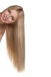 Studio portrait of beautiful blonde girl Royalty Free Stock Images
