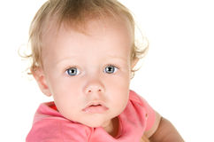 Studio portrait of beautiful child Stock Image