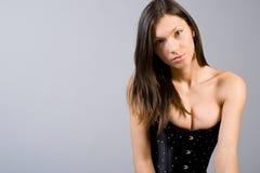Studio portrait of the beautiful girl Stock Photos