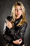 Studio portrait of the beautiful girl royalty free stock image