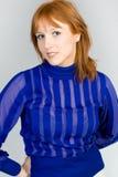 Studio portrait of the beautiful girl Royalty Free Stock Photo