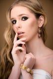Studio portrait of a beautiful girl Royalty Free Stock Photo