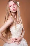 Studio portrait of a beautiful girl Royalty Free Stock Image