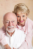 Studio Portrait of Beautiful Senior Couple Royalty Free Stock Photos