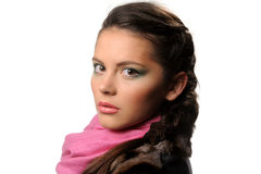 Studio portrait of beautiful girl Stock Photo