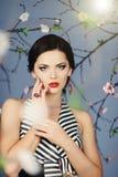 Studio portrait of beautiful sexy girl Stock Image