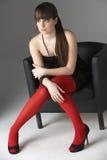 Studio Portrait Of Beautiful Teenage Girl Stock Images