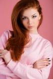 Studio portrait of a beautiful woman. Royalty Free Stock Photos