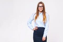Studio portrait of beautiful young business woman Stock Photos