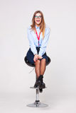 Studio portrait of beautiful young business woman Royalty Free Stock Images