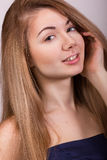Studio portrait of a beautiful young woman Royalty Free Stock Image