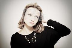 Studio portrait of beautiful young woman Stock Photography