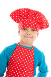 Studio portrait boy as little cook Royalty Free Stock Photos